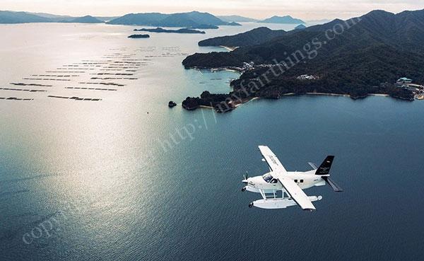 せとうちSeaplanesで瀬戸内海上を遊覧飛行