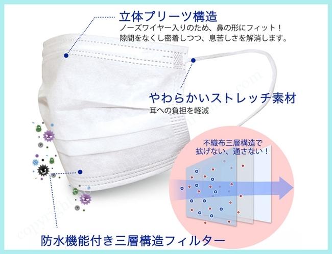 三層構造不織布マスク・中国・医療用品専門工場製