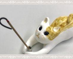 流川香の猫の香炉