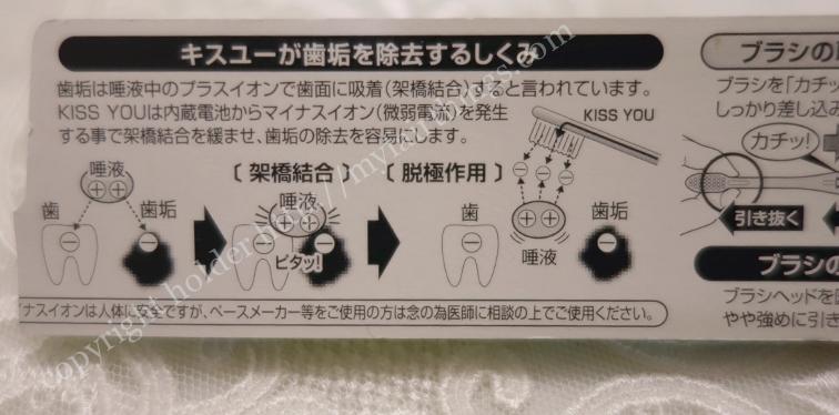 イオン式歯ブラシの仕組み・説明