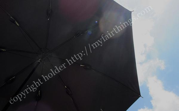 裏が黒い遮光傘