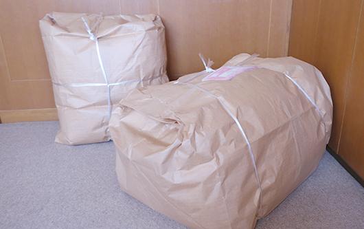 アクアゴールドウォッシュに出す準備完了の布団たち