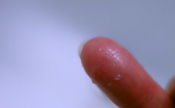 しらさぎクリーム指洗ったあと