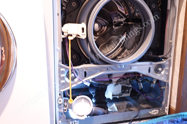 ミーレの洗濯機内部の様子