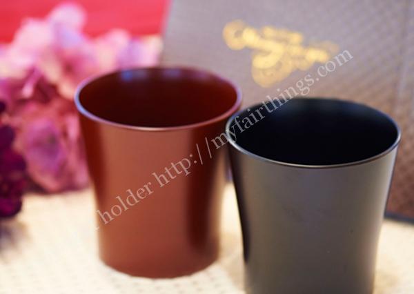 ハート電報漆塗りペアカップ
